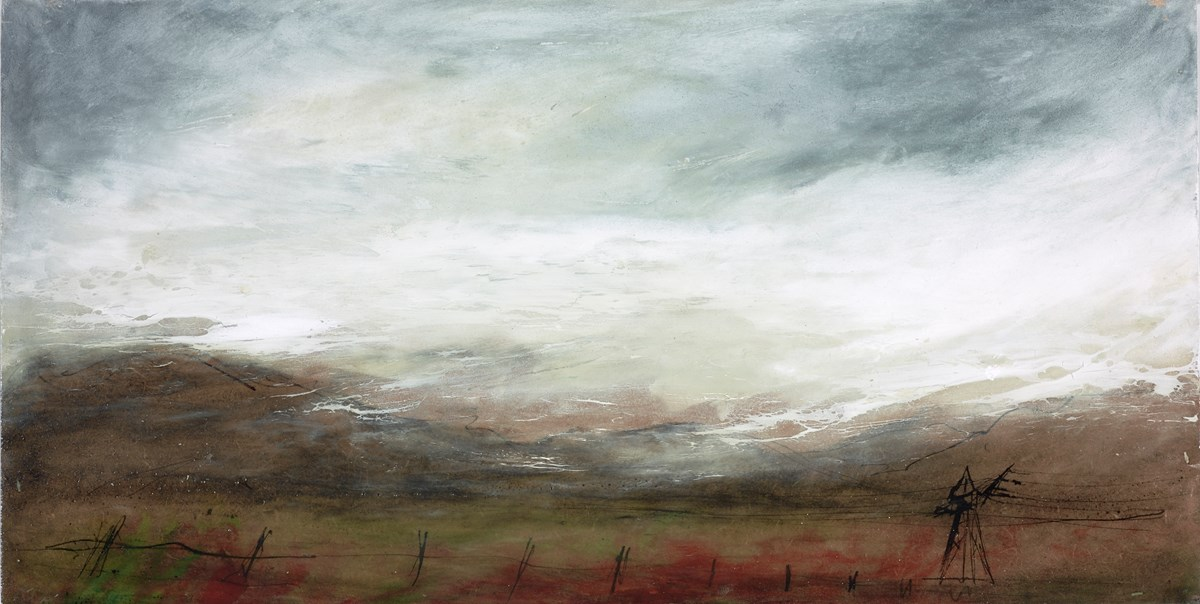 Whispering Hills by frances ackland snow -  sized 18x9 inches. Available from Whitewall Galleries
